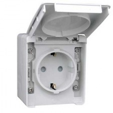 Base enchufe Schuko estanco 16A IP65 48132 CCZ EFAPEL