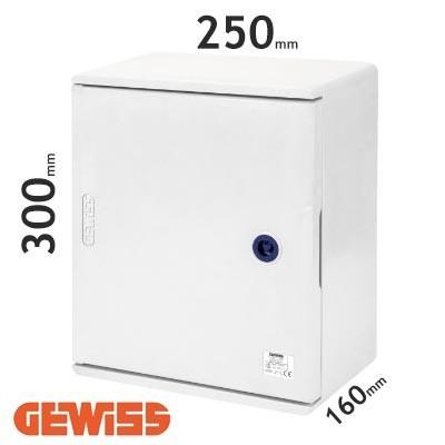 Cuadro eléctrico de poliéster Gewiss GW46001F con puerta ciega