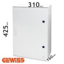 Cuadro eléctrico de poliéster Gewiss GW46002F con puerta ciega