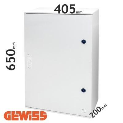 Cuadro eléctrico de poliéster Gewiss GW46004F con puerta ciega