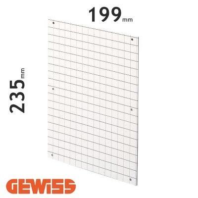 Placa de fondo perforada Gewiss GW46408 para cuadros de 250x300
