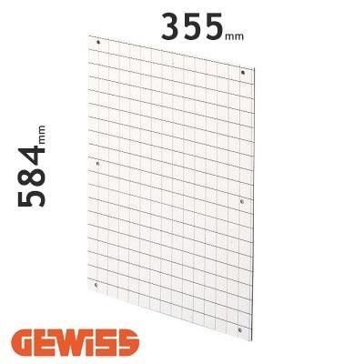 Placa de fondo perforada Gewiss GW464011 para cuadros de 405x650