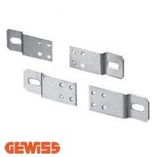 Juego de 4 grapas de acero galvanizado Gewiss GW46446 para fijar cuadros