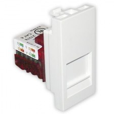 Tapa con conector RJ45 Efapel 45978 S BR Quadro 45 color blanco