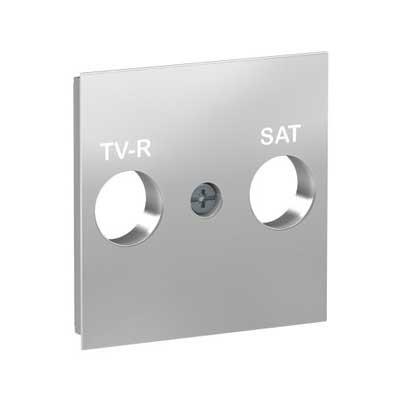 Tapa toma R-TV/SAT NU944130 New Unica Schneider aluminio