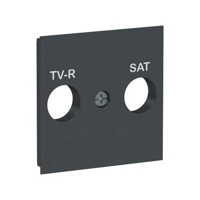 Tapa toma R-TV/SAT New Unica NU944154 Schneider antracita