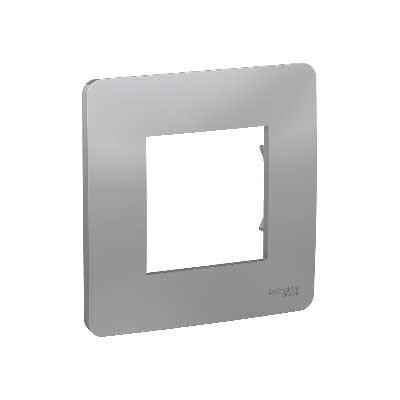 Marco 1 elemento NU200230 New Unica Schneider Studio aluminio