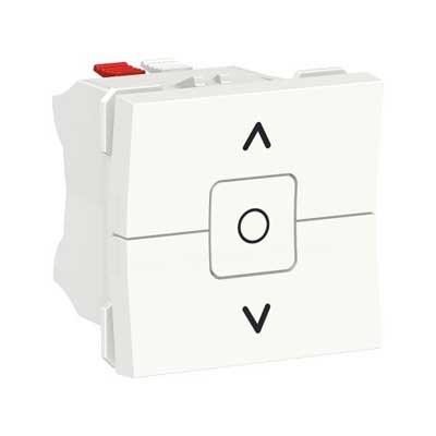 Interruptor de persianas New Unica NU320818 Schneider blanco polar