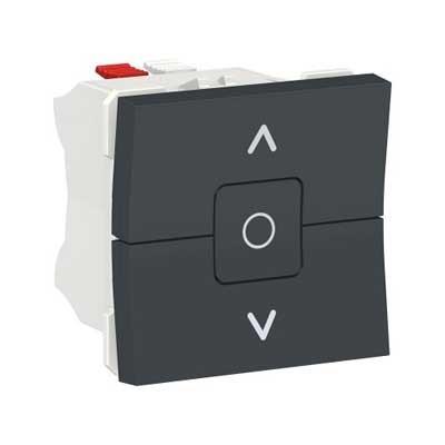 Interruptor de persianas 3 posiciones New Unica NU320854 Schneider antracita