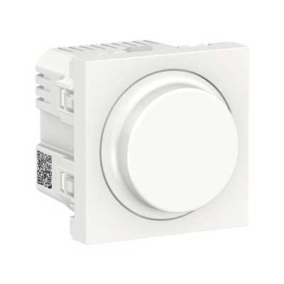 Regulador giratorio LED New Unica NU351418 Schneider blanco polar