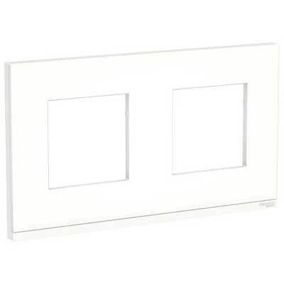 Marco Pure blanco traslúcido 2 elementos NU600489 New Unica Schneider