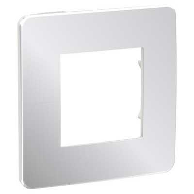 Marco 1 elemento New Unica Schneider Studio metal aluminio blanco
