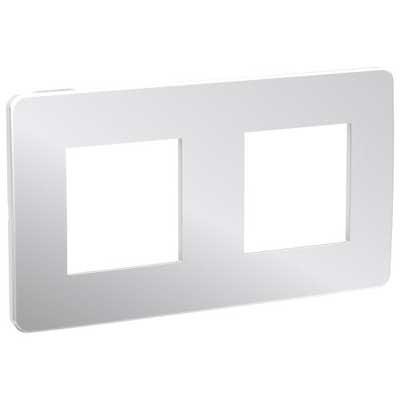 Marco Studio metal aluminio blanco 2 elementos NU280455 New Unica Schneider