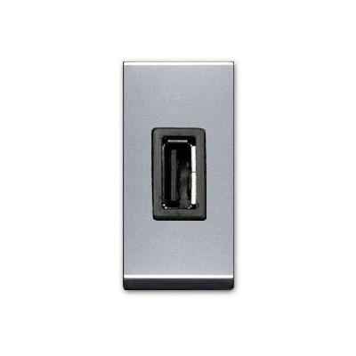 Toma estrecha cargador Usb n2185.2pl 2A plata Zenit