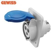 Base cetac empotrable 2P+T 32A 230V GW62216H Gewiss
