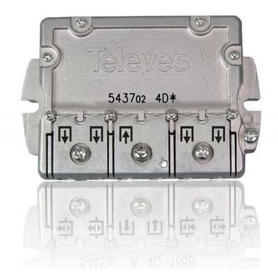 Repartidor Televes 543702 interior 4 direcciones 9/7,5db