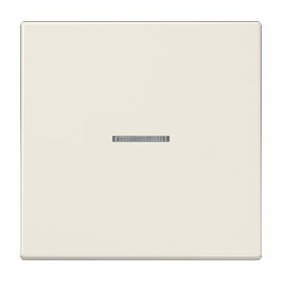 Tecla JUNG LS 990 KO5 para interruptor pulsador con visor marfil