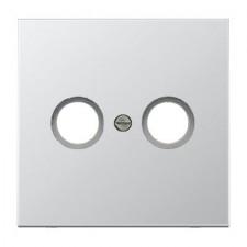 Placa 2 tomas televisión aluminio JUNG al2990tv serie ls990
