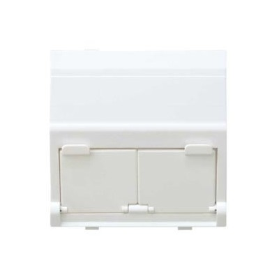 Tapa adaptador 2 conectores RJ AMP 27486-35 blanco simon 27 play