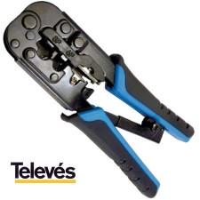 Crimpadora TELEVES 209801 rj45 rj11 rj12 4p4c 4p2c