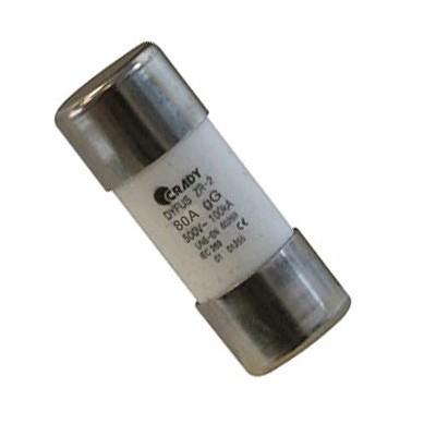 Fusible ZR-2 CRADY 0101260 80 Amperios Clase gG