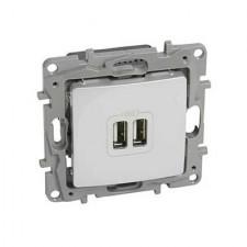 Cargador USB doble Niloe 664794 Legrand blanco
