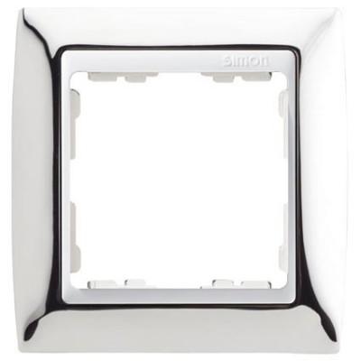 Marco Cromado blanco 1 elemento Simon 82614-63