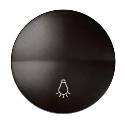 Tecla pulsador Simon 88018-32 símbolo luz color marrón