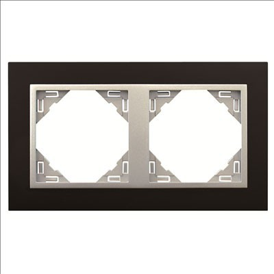 Marco 2 elementos Efapel 90920 t pa animato negro aluminio