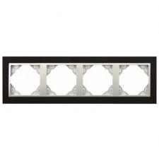 Marco 4 ventanas Efapel 90940 t pa animato negro aluminio