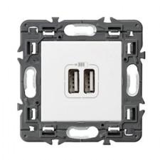 Cargador USB Legrand 741232 Valena Next blanco 3000mA