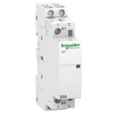 Contactor Schneider A9C22722 modular iCT 20A 2 polos