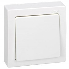 Conmutador monobloc Simon 73201-50 de superficie 10A 250V Blanco