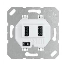 Toma cargador USB doble jung USB3-2WW 3000mA blanco
