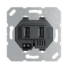 Toma cargador USB doble jung USB3-2SW 3000mA negro