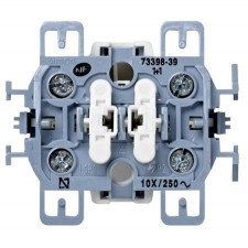 Interruptor doble Simon 73398-39 embornamiento a tornillo