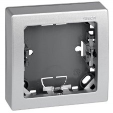 Marco con base para 1 elemento Simon 73610-63 color aluminio
