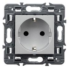 Enchufe Schuko 2P+T Legrand 741320 Valena Next aluminio