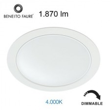 Downlight LED regulable AIR 22W 3488 Beneito & Faure