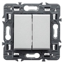 Interruptor doble Legrand 741344 Valena Next aluminio