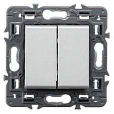 Conmutador doble Legrand 741345 Valena Next aluminio