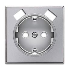 Tapa enchufe schuko con doble Niessen USB 8588.3 pl Sky plata