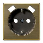 Tapa enchufe schuko con doble USB Niessen 8588.3 OE Sky oro envejecido