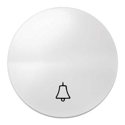Tecla pulsador Simon 88017-30 símbolo timbre blanco