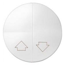 Tecla doble pulsador persianas Simon 88 88028-30 color blanco