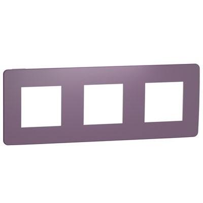 Marco de 3 elementos Schneider NU280614 New Unica Studio violeta