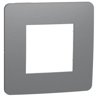 Marco 1 elemento gris Schneider NU280221 New Unica Studio