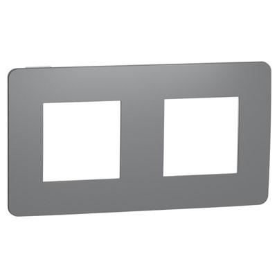 Marco de 2 elementos Schneider New Unica Studio NU280421 gris