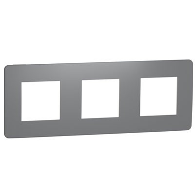 Marco de 3 elementos gris Schneider NU280621 New Unica Studio Color
