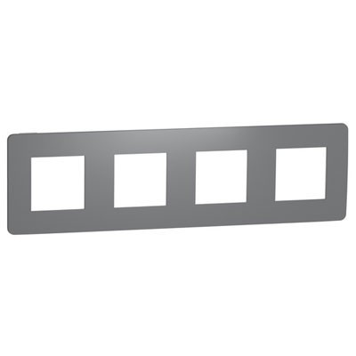 Marco gris de 4 elementos Schneider NU280821 New Unica Studio Color